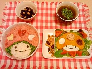 ヘルシー定食(ネギトロ丼+かぼちゃマッシュサラダ)