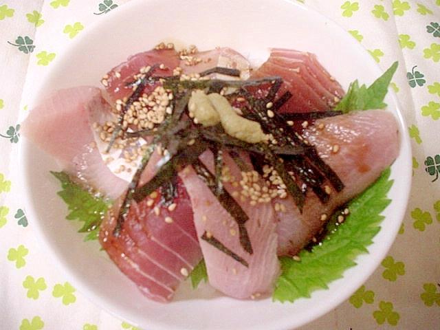 ブリとマグロの簡単海鮮どんぶり~☆