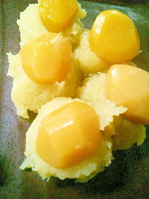焼き芋で簡単あまい☆栗きんとん☆砂糖なし