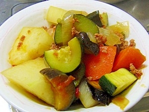 野菜たっぷり♪冬瓜のトマトソース煮