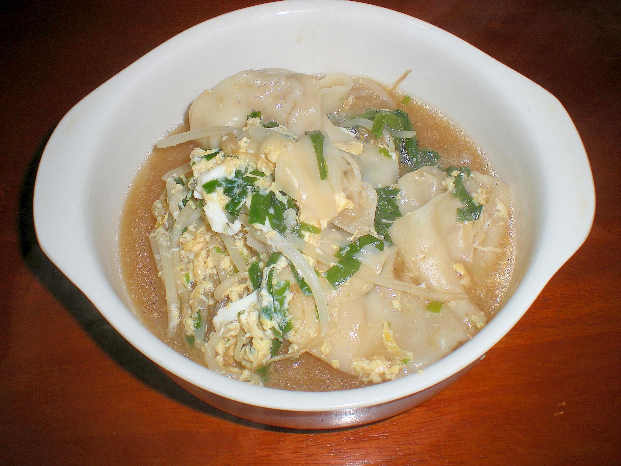 ニラ玉ワンタンスープ