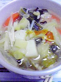 冷え症さんに☆生姜入カレー風味のお味噌汁♪