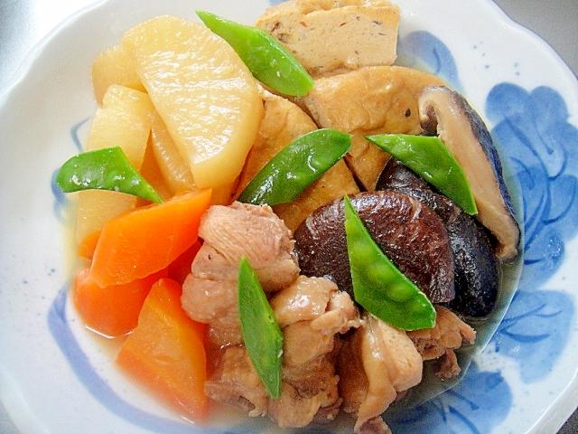 鶏肉入り・がんもどきと野菜の煮物