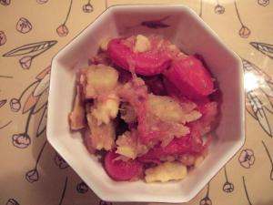 リンゴとさつまいもの甘さを使った京ニンジングラッセ