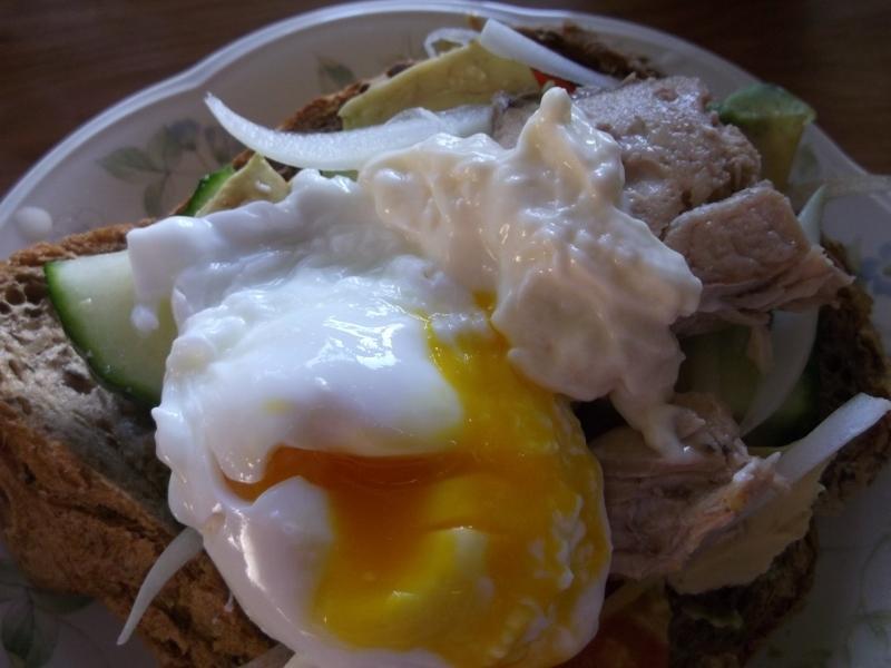 カフェ風☆鮭と卵のオープンサンド