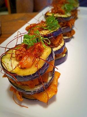 オシャレで美味しい!茄子と豚キムのミルフィーユ