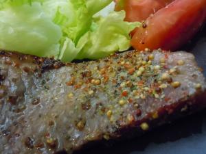 粒胡椒で☆ステーキのスパイス焼き