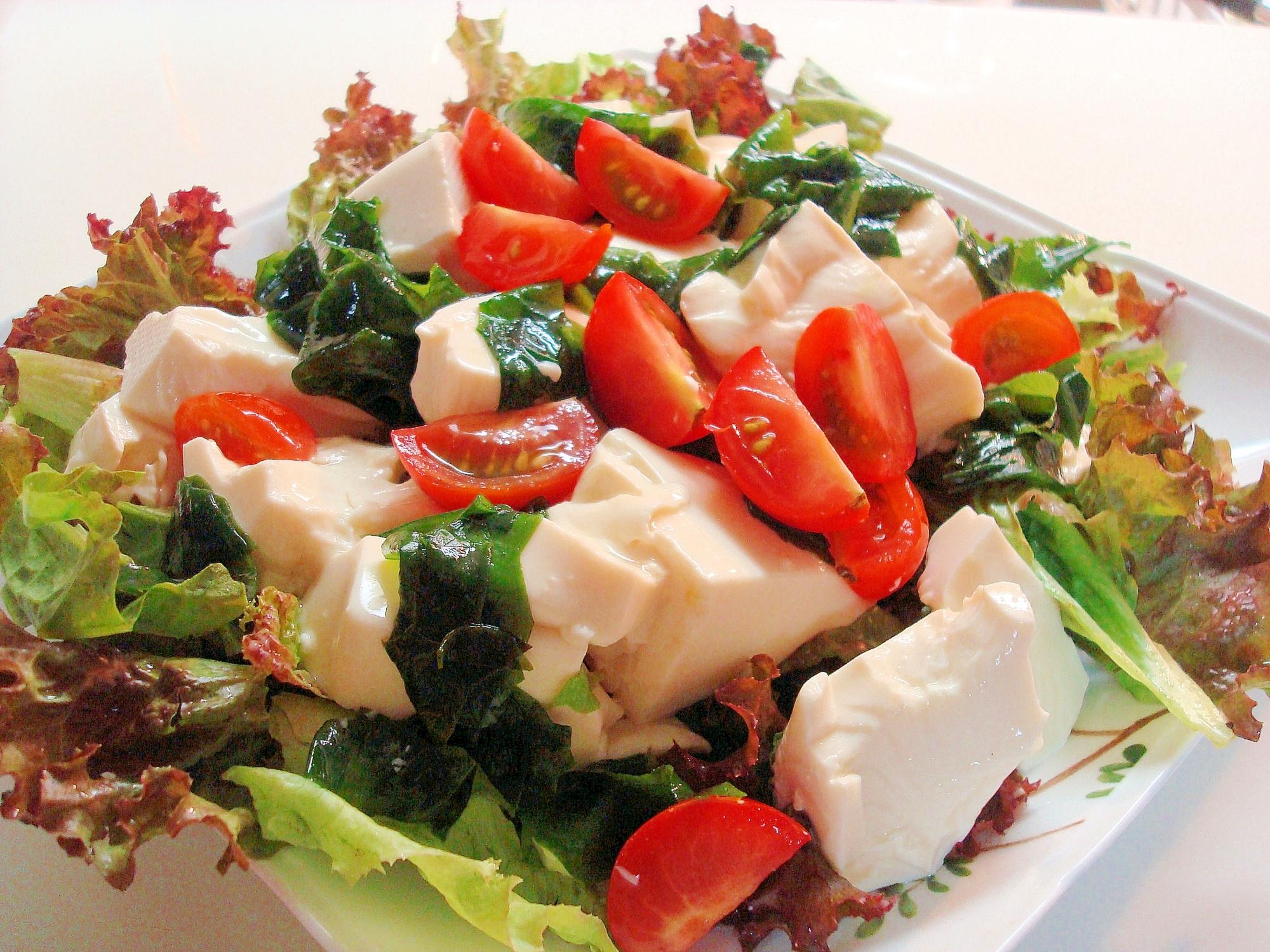 ポン酢とよく合う☆くずし豆腐サラダ~♪ レシピ・作り方 by じゅりあん〜♪|楽天レシピ