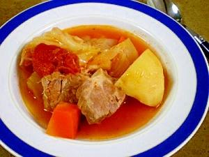 圧力鍋で野菜たっぷりトマトスープ