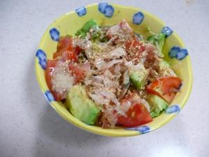 アボカドとトマトの和風サラダ♪