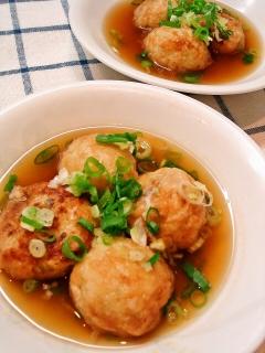 冷凍たこ焼きで簡単に明石焼き風スープ