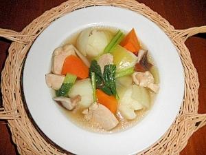 野菜たっぷり疲労回復スープ