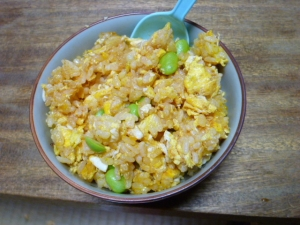 枝豆の卵チャーハン