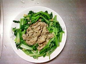簡単に出来るササミの小松菜付き合わせ