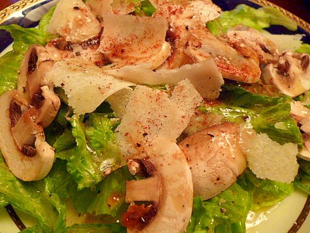パルミジャーノと生マッシュルームのサラダ