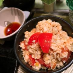 トマトともち麦の中華風白和え