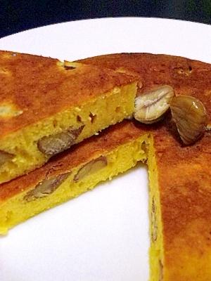 むき栗のフライパンケーキ