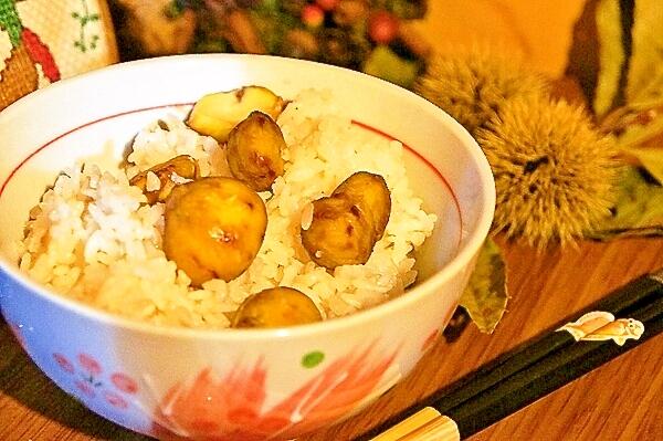もち米なし!秋の味覚を食べよう♪炊飯器で栗ご飯