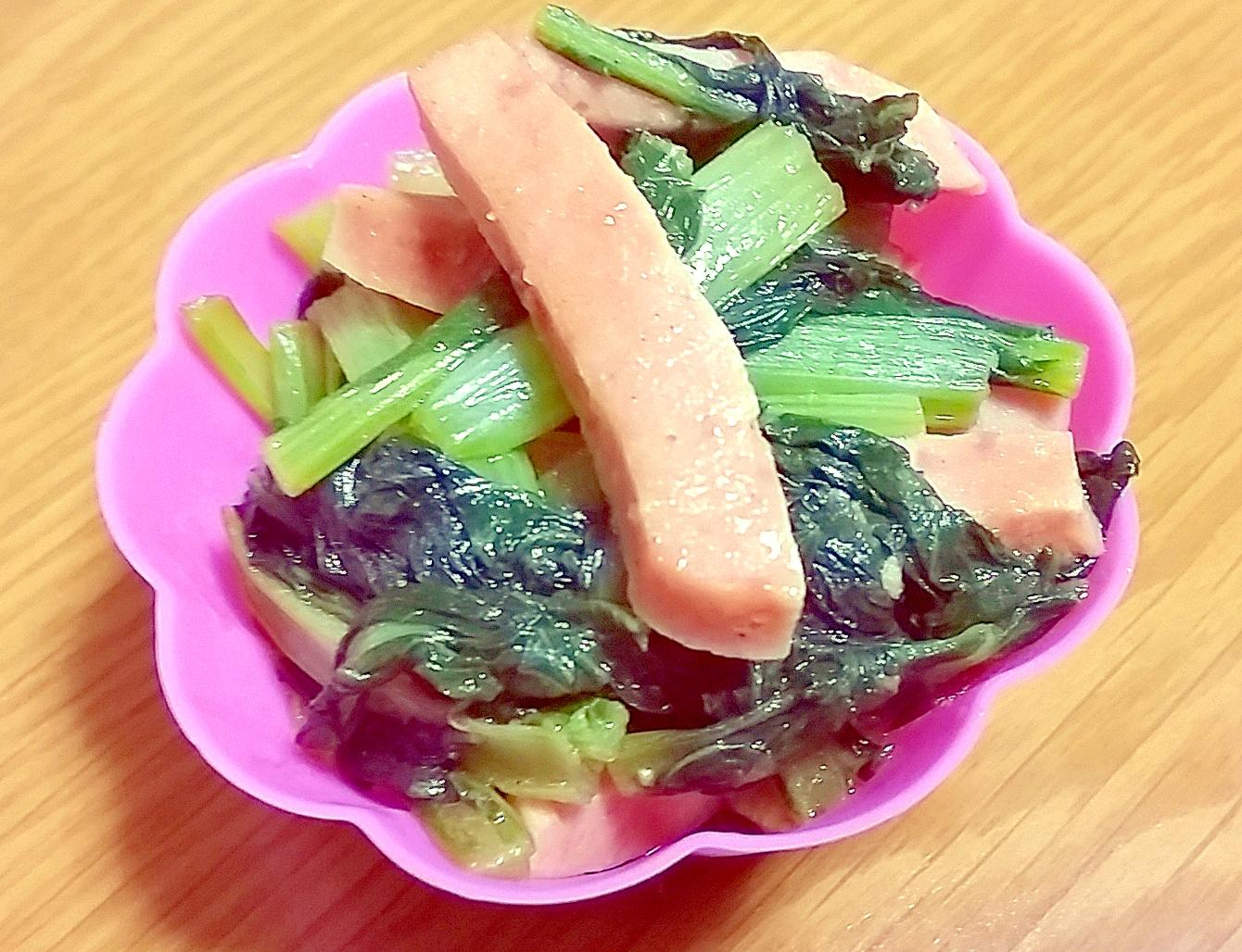 お弁当のおかずに☆小松菜とハムの簡単炒め♪ レシピ・作り方 by yomogimotir|楽天レシピ