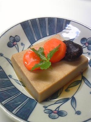 基本の高野豆腐の含め煮