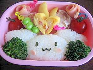 娘の幼稚園弁当(シナモロール)