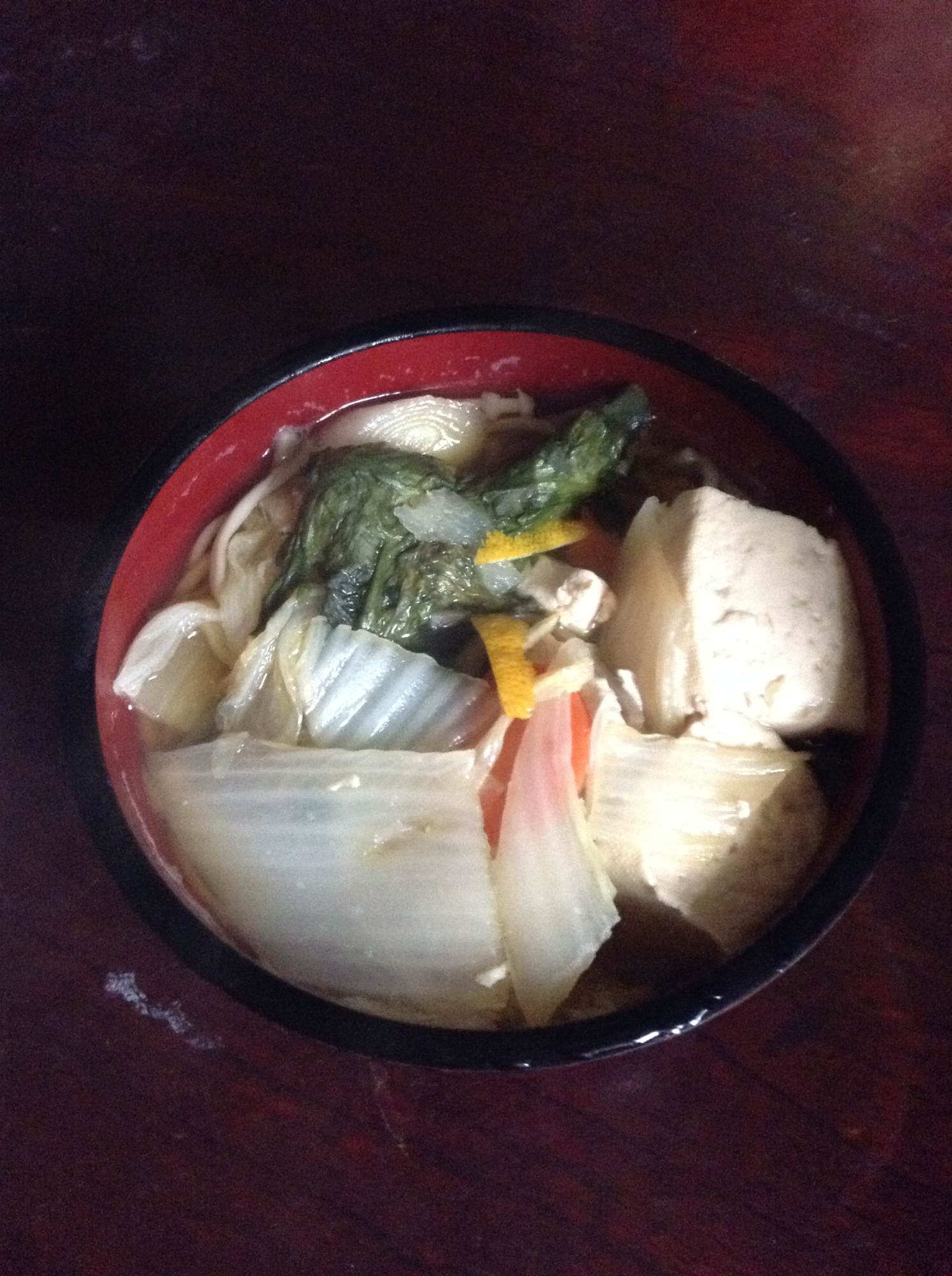 湯豆腐風蕎麦