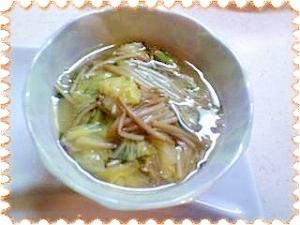 冬にピッタリ白菜&春菊のあんかけ