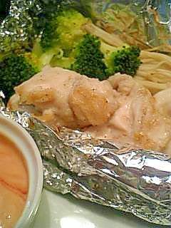 鶏ささみの簡単ホイル焼き♪