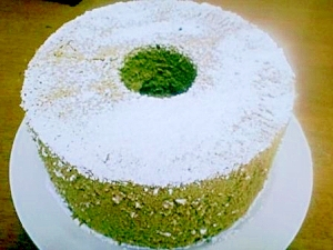 米粉でふんわりしっとり抹茶シフォン