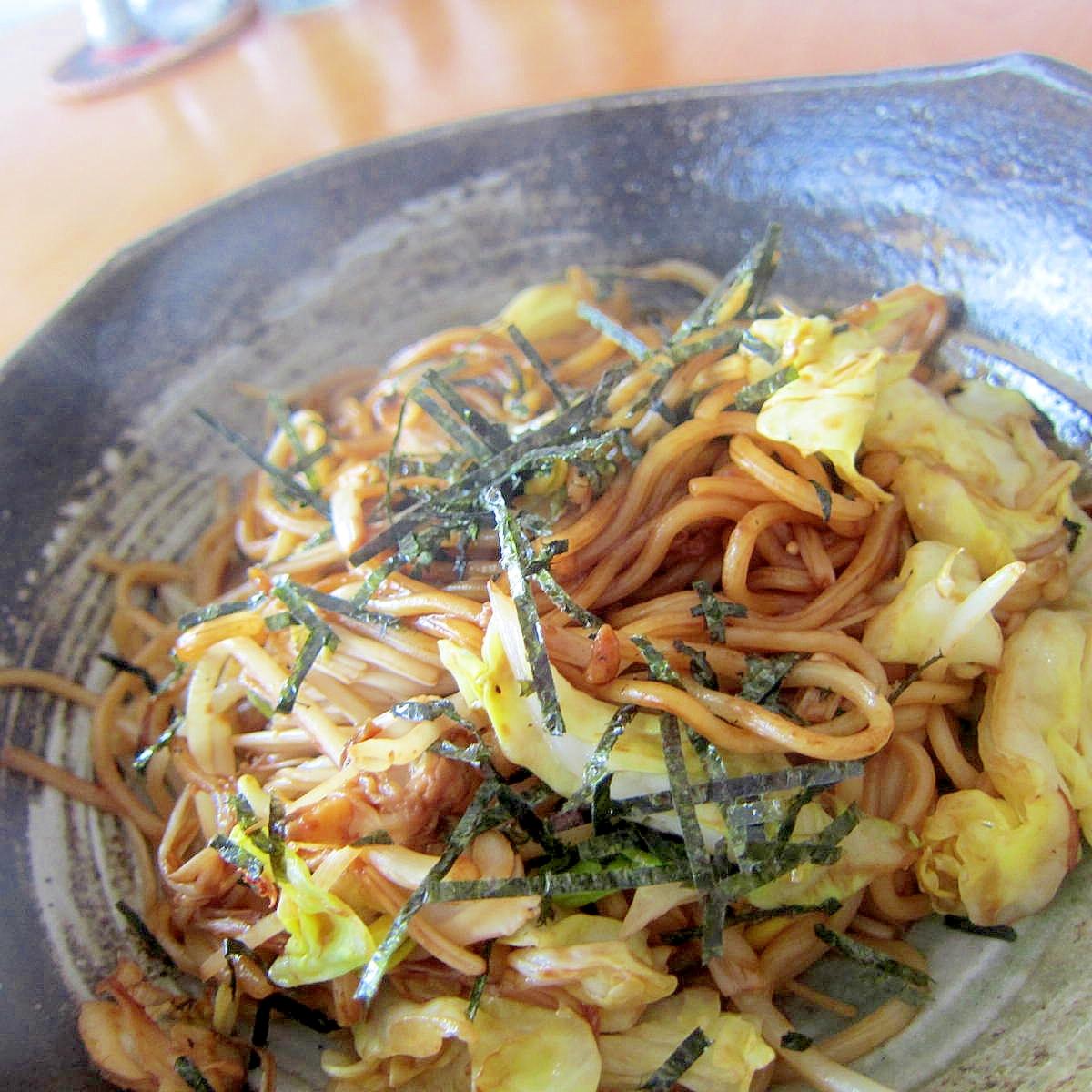 アサリきゃべつソース焼き蕎麦