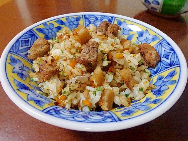 蓮根牛肉煮物で♪リメイク炒飯