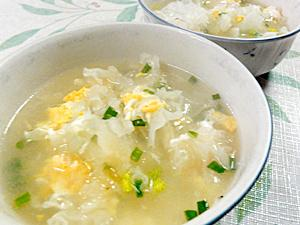 白キクラゲの卵スープ