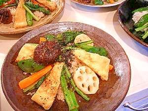 玄米と焼き野菜プレート