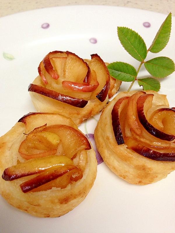 バラの花のアップルパイ