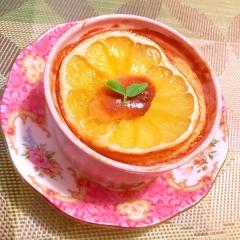 河内晩柑のハニーミントチーズケーキ