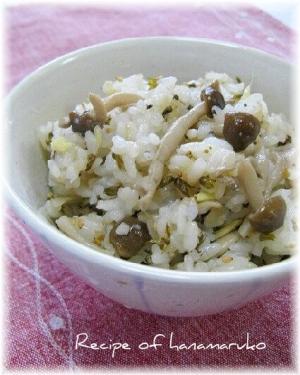 簡単混ぜるだけ・きのこご飯(干しきのこの塩麹漬け)
