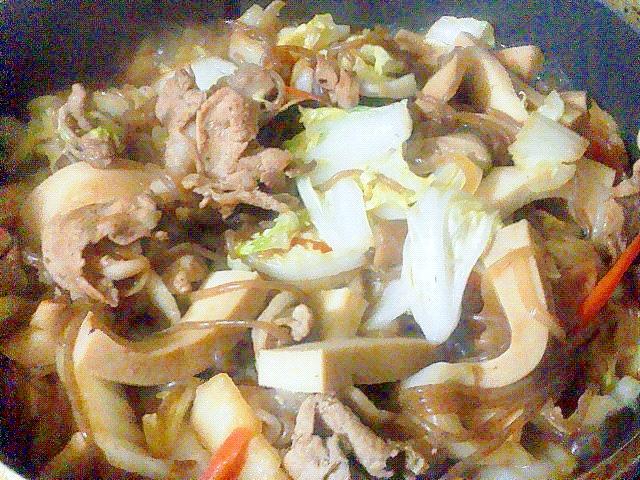 ビタミンB1がたくさんの豚肉で作るすき煮