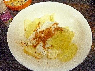 ダイエット朝食林檎文旦シナモンピーナツヨーグルト