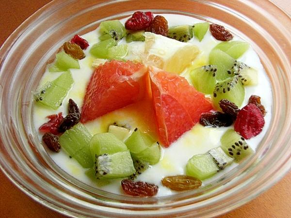 グレープフルーツ可愛め美肌ヨーグルト♪(キウイ)