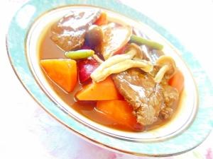 ❤薩摩芋と人参と茸と牛カルビのビーフ・シチュー❤ ❤薩摩芋と人参と茸と牛カルビのビーフ・シチュー