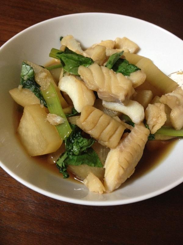 簡単おかず☆タラと大根と小松菜の煮浸し