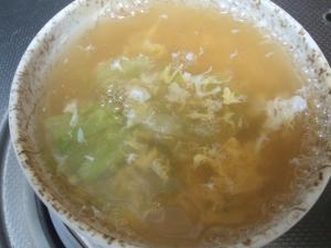 キャベツと卵の和風スープ