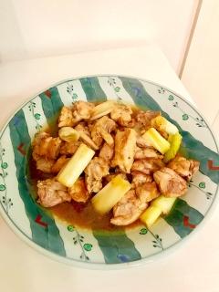 ネギがおいしー♫ ネギと鶏もも肉の炒め煮
