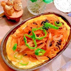 大葉薫る鉄板納豆ナポリタン