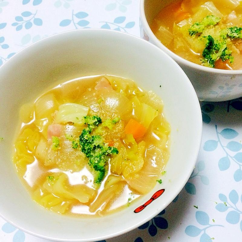 胃に優しい!あったかキャベツスープ レシピ・作り方 by Polaris36|楽天レシピ