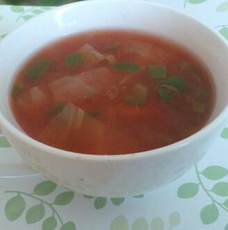 野菜たっぷり☆トマトの和風スープ