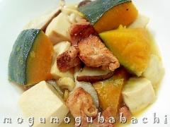 焼き鳥缶で簡単・美味しい♪高野豆腐と南瓜の煮物