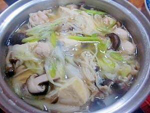 きのこと豆腐の塩麹鍋