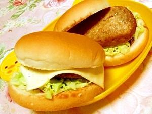 お好み焼きのタレ&マヨdeハンバーグ・バーガー
