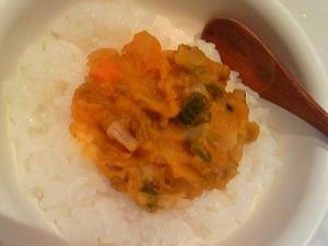 離乳食♪中期~後期☆カボチャと色々野菜のお粥